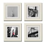 Imagine Letters Inc. 4 Piece ''Red New York'' Picture Frame Set