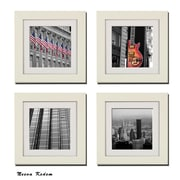 Imagine Letters Inc. 4 Piece ''New York Scene'' Picture Frame Set