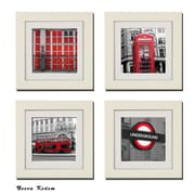 Imagine Letters Inc. 4 Piece ''Set of Red London'' Picture Frame Set