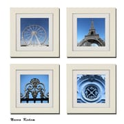 Imagine Letters Inc. 4 Piece ''Set of Paris in Blue'' Picture Frame Set