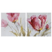 LaKasaLLC 'Flower and Nature' 2 Piece Oil Painting Print Set on Canvas