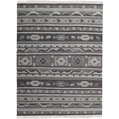Ren-Wil Black/Gray Area Rug; 5'2'' x 7'2''