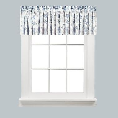 Saturday Knight Snow Flurries 58'' Curtain Valance