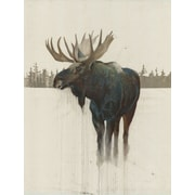 48'' H x32'' W Ready to Hang, 'Golden Moose' by Daniel St Amant, Wildlife Wall Art on Wrapped Canvas