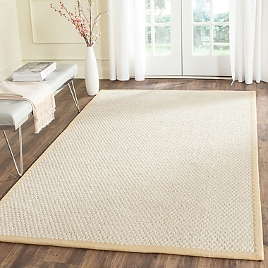 Gracie Oaks Hydetown Hand-Woven Sand Area Rug; 5' x 8'