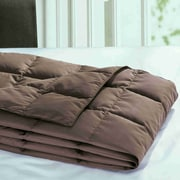 Red Barrel Studio Cadonia Down Throw Blanket; Chocolate
