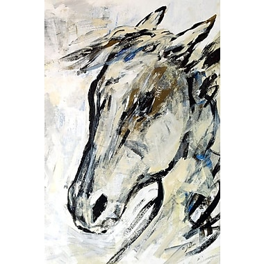 East Urban Home 'Picasso's Horse II' Painting Print on Wrapped Canvas; 12'' H x 8'' W x 0.75'' D