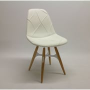 Modern Chairs USA ZigZag Side Chair; White