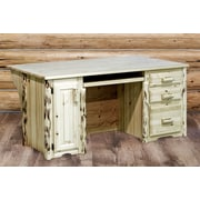 Loon Peak Abordale Executive's Office Computer Desk; Lacquered