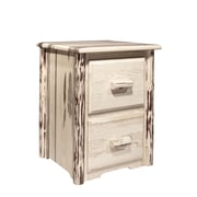 Loon Peak Abordale 2 Drawers File Cabinet; Ready To Finish