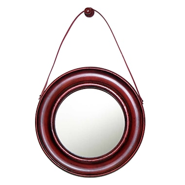Hickory Manor House Captain's Wall Mirror; Old Red