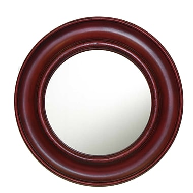 Hickory Manor House Captain's Wall Mirror; Antique Chinese Red
