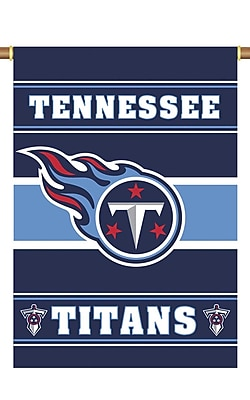 NeoPlex NFL Double Sided Garden Banner; Tenessee Titans