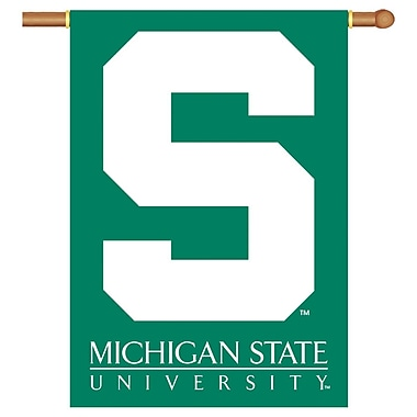 NeoPlex NCAA Double Sided Garden Banner; Michigan State Spartans