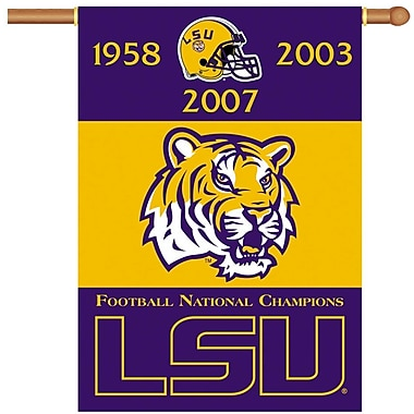 NeoPlex NCAA Double Sided Garden Banner; LSU Tigers