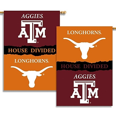NeoPlex NCAA Double Sided Garden Banner; Texas A&M Aggies/Longhorns
