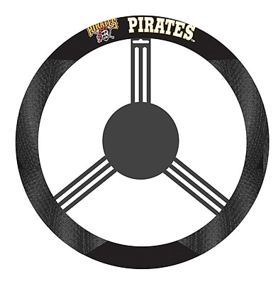 NeoPlex NCAA Steering Wheel Cover; Pittsburgh Pirates