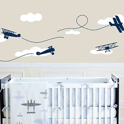 Owl Hills Biplanes Wall Decal