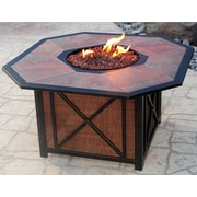 Oakland Living Haywood Aluminum Propane Gas Fire Pit Table
