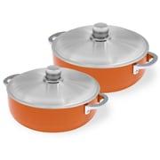IMUSA 4 Piece Dutch Oven Set; Orange