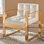 Everly Quinn Durham Leather Arm Chair