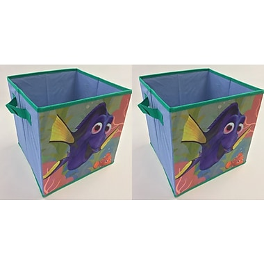 Linen Depot Direct Finding Dory Collapsible Storage Cube (Set of 2)