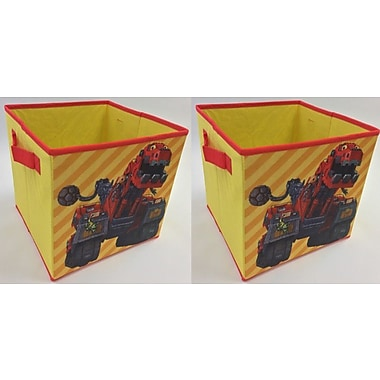 Linen Depot Direct Dinotrux Collapsible Storage Cubes (Set of 2)