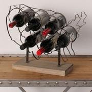 Kate and Laurel America 6 Bottle Tabletop Wine Bottle Rack