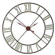 Gracie Oaks Sampada Oversized 48'' Red/Blue Wall Clock