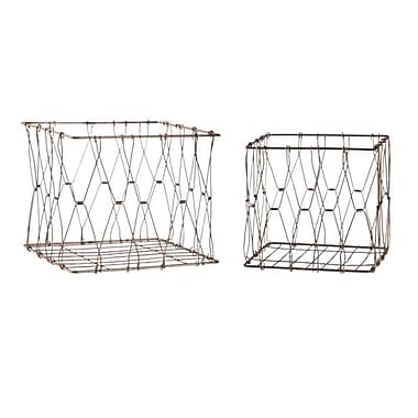 Gracie Oaks 2 Piece Collapsible Basket Set (Set of 2)