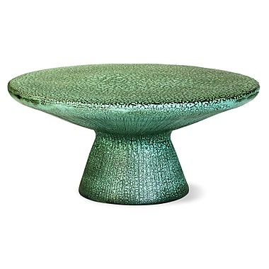 SeasonalLiving Kavis Coffee Table; Frost with Unique Textured