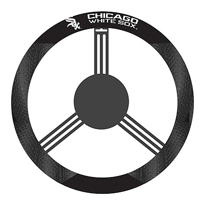 NeoPlex NCAA Steering Wheel Cover; Chicago White