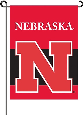 NeoPlex NCAA Double Sided Garden Banner Flag; Nebraska