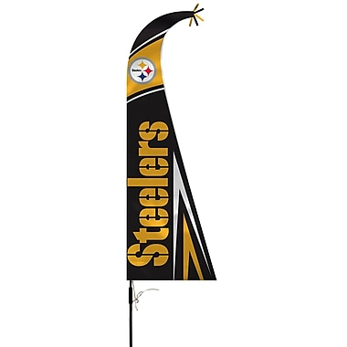 NeoPlex NFL Feather Flag w/ Pole and Spike; Pittsburgh Steelers