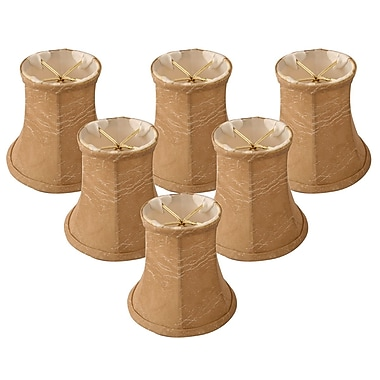 RoyalDesigns 4.25'' Faux Leather Bell Candelabra Shade (Set of 6)