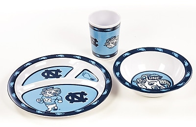 NeoPlex NCAA 3 Piece Melamine Dish Set; North Carolina Tar Heels WYF078279653672