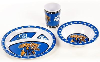 NeoPlex NCAA Melamine 3 Piece Place Setting, Service for 1; Kentucky Wildcats WYF078279653673
