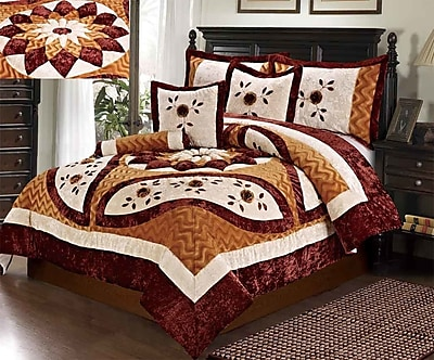 Tache Home Fashion Autumn's Last Blossom Comforter Set; Queen