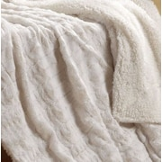 Tache Home Fashion Polar Throw w/ Faux Fur Throw Blanket; 90'' L x 90'' W