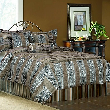 Tache Home Fashion Winter Frost 6 Piece Comforter Set; Full