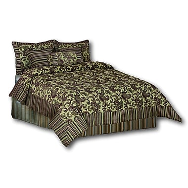 Tache Home Fashion Exotic Blooms 6 Piece Comforter Set; Full