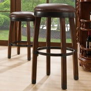 Leick 26'' Swivel Bar Stool (Set of 2); Sienna / Sable