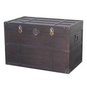 Vintiquewise Wooden Steamer Trunk