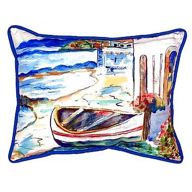 Betsy Drake Interiors Sicilian Shore Indoor/Outdoor Lumbar Pillow