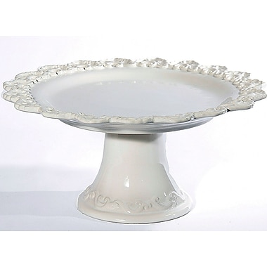 Intrada Baroque Footed Cake Stand; White
