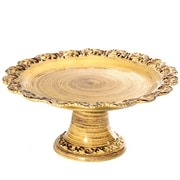 Intrada Baroque Footed Cake Stand; Honey