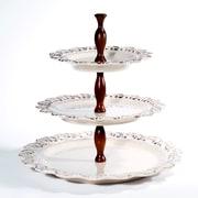 Intrada Baroque 3-Tier Cake Stand; Cream