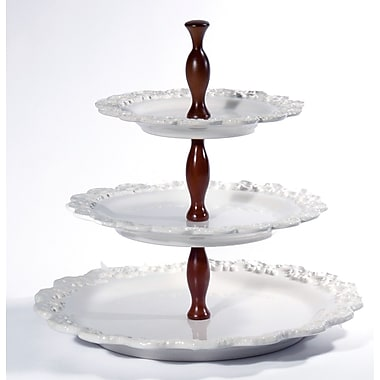 Intrada Baroque 3-Tier Cake Stand; White