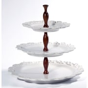 Intrada Baroque 3-Tier Cake Stand; White