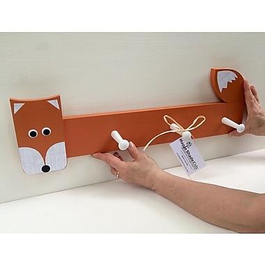 Maple Shade Kids Fox Peg Rack; Orange